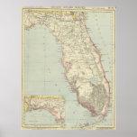 Vintage Map of Florida (1883) 2 Poster