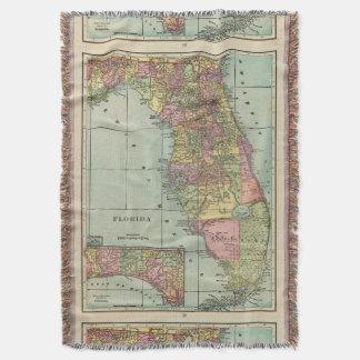 Vintage Map of Florida (1909) Throw