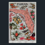 """Vintage Map of Florida (1917) Poster<br><div class=""""desc"""">This is a vintage map of Florida produced in 1917.</div>"""