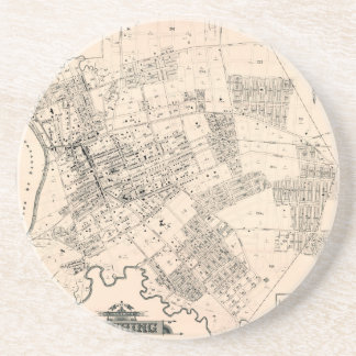 Vintage map of Flushing 1894 Drink Coaster