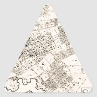 Vintage map of Flushing 1894 Triangle Sticker