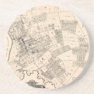 Vintage map of Flushing New York 1894 Coaster