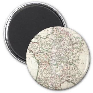 Vintage Map of France (1771) 2 Inch Round Magnet