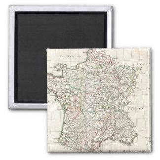 Vintage Map of France (1771) 2 Inch Square Magnet