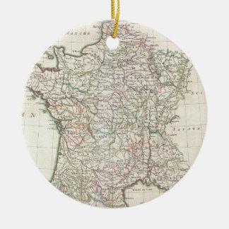Vintage Map of France (1771) Ceramic Ornament