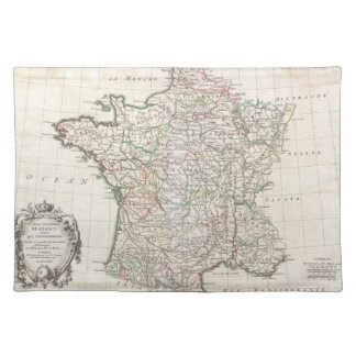 Vintage Map of France (1771) Cloth Placemat