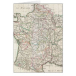 Vintage Map of France (1771) Greeting Card