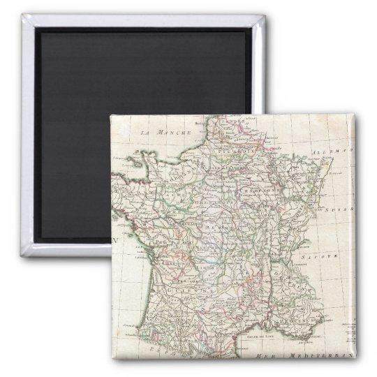 Vintage Map of France (1771) Magnet