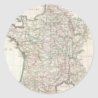 Vintage Map of France (1771) Classic Round Sticker