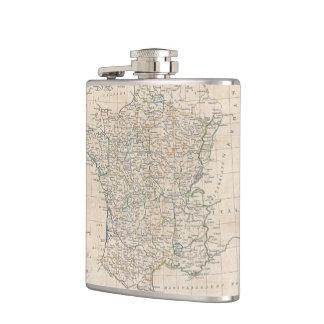 Vintage Map of France (1799) Hip Flask