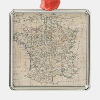 Vintage Map of France (1799) Metal Ornament