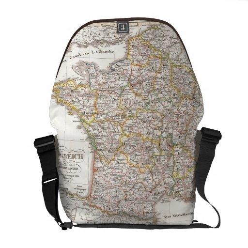 Vintage Map of France (1850) Commuter Bag