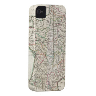 Vintage Map of France (1850) iPhone 4 Case
