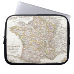 Vintage Map of France (1850) Laptop Computer Sleeves