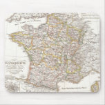 Vintage Map of France (1850) Mouse Pad