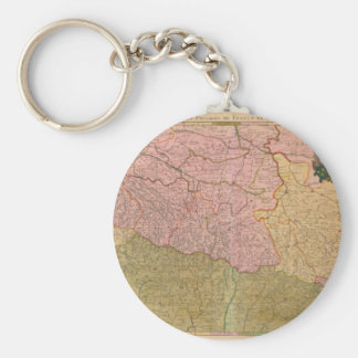 Vintage Map of France Keychain