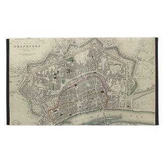 Vintage Map of Frankfurt Germany (1837) iPad Folio Case