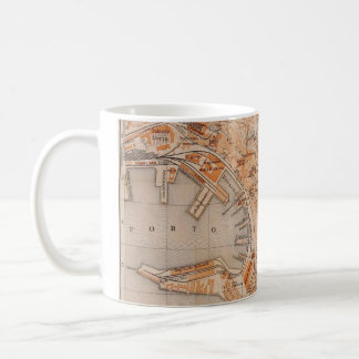 Vintage Map of Genoa Italy (1906) Coffee Mug