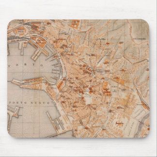 Vintage Map of Genoa Italy (1906) Mouse Pad