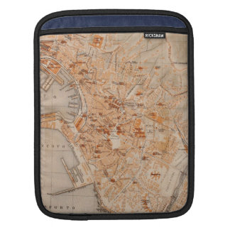 Vintage Map of Genoa Italy (1906) Sleeves For iPads