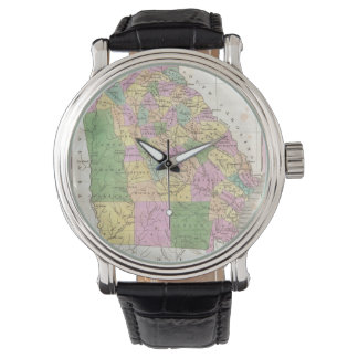 Vintage Map of Georgia (1827) Wrist Watches