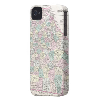 Vintage Map of Georgia (1855) iPhone 4 Case