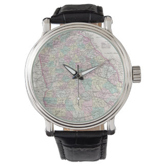 Vintage Map of Georgia (1855) Wrist Watches