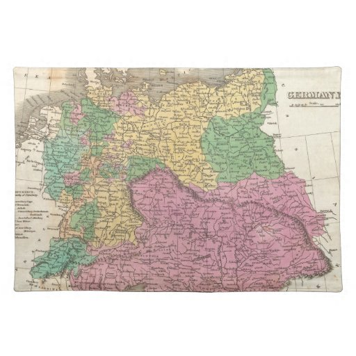 Vintage Map of Germany (1827) Place Mats