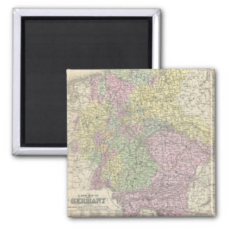 Vintage Map of Germany (1853) 2 Inch Square Magnet