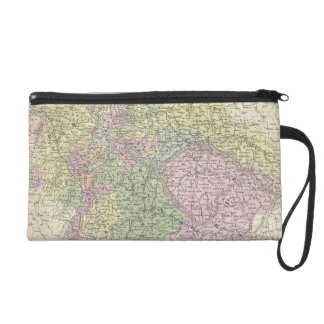 Vintage Map of Germany (1853) Wristlet Clutches