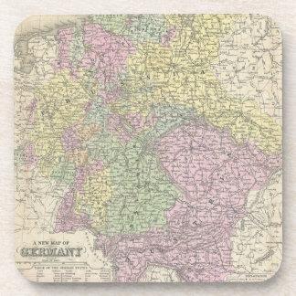Vintage Map of Germany (1853) Beverage Coaster
