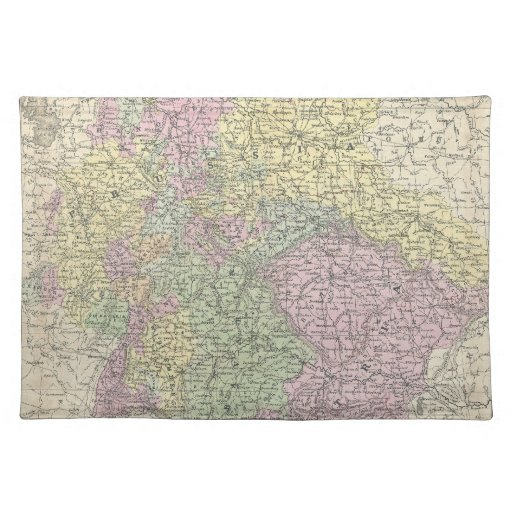 Vintage Map of Germany (1853) Placemat