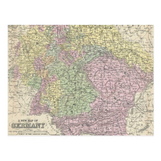 Vintage Map of Germany (1853) Postcard