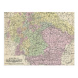 Vintage Map of Germany (1853) Postcards