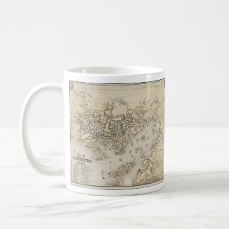 Vintage Map of Gloucester Massachusetts (1873) Classic White Coffee Mug