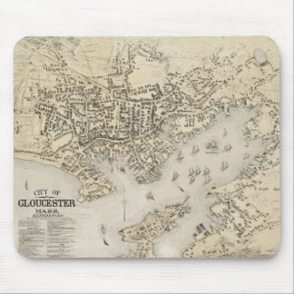 Vintage Map of Gloucester Massachusetts (1873) Mouse Pad
