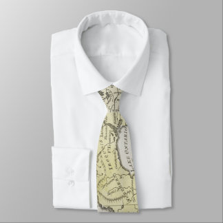 Vintage Map of Great Lakes & Canada (1761) Tie