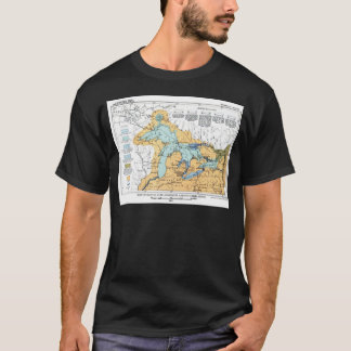 Vintage Map of Great Lakes T-Shirt