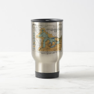 Vintage Map of Great Lakes Travel Mug