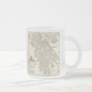 Vintage Map of Greece (1794) Frosted Glass Coffee Mug