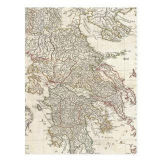 Vintage Map of Greece (1794) Postcard