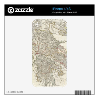 Vintage Map of Greece (1794) iPhone 4 Decal