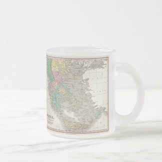 Vintage Map of Greece (1827) Frosted Glass Coffee Mug