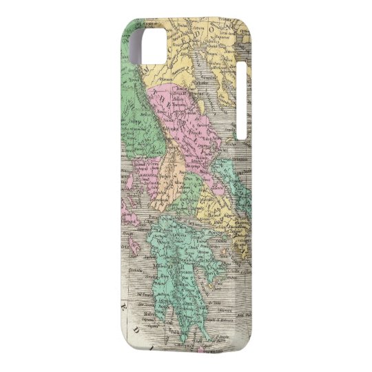 Vintage Map of Greece (1827) iPhone SE/5/5s Case