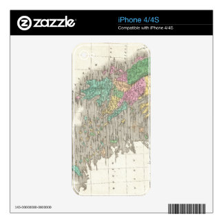 Vintage Map of Greece (1827) iPhone 4S Skins