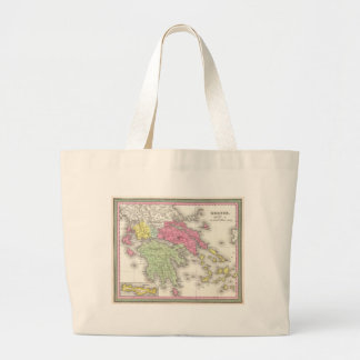 Vintage Map of Greece (1853) Tote Bags