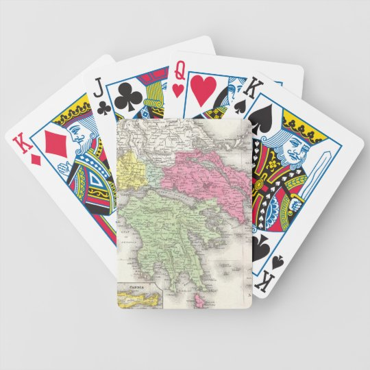 Vintage Map of Greece (1853) Bicycle Playing Cards