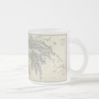 Vintage Map of Greece (1861) Frosted Glass Coffee Mug