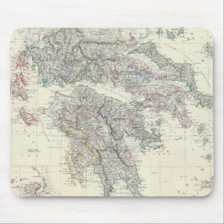 Vintage Map of Greece (1861) Mouse Pad