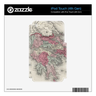 Vintage Map of Greece (1865) iPod Touch 4G Skin
